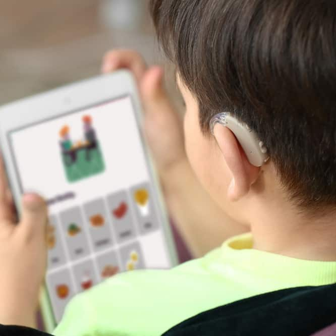 Image of a child using Mind Of My Own express, with Learning Disabilities and Special Educational Needs